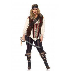 Pirate Met Luxe Afwerking Maatje Meer Vrouw Kostuum