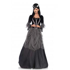 Victoriaanse Gothische Dame Vrouw Kostuum