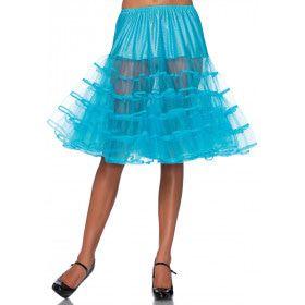 Knielange Petticoat Twist Blauw