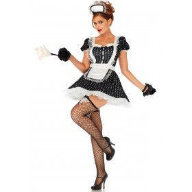 Pikant Kamermeisje Vrouw Kostuum