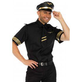Vlotte Vincent Boeing Piloot Man Kostuum