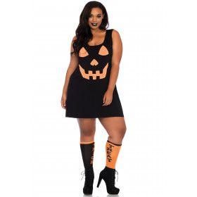 Flinke Halloween Pompoen Plus Size Vrouw Kostuum