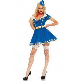 Lita Luchtzak Stewardess Vrouw Kostuum