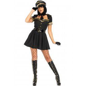 Opvlieger Piloot Vrouw Kostuum