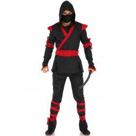 Koele Ninja Killer Man Kostuum