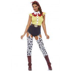 Wilde Rit Rodeo Vrouw Kostuum