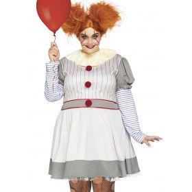 Clown Griezelig Halloween Circus Vrouw Kostuum