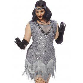 Fantastische Flapper Jaren 20 Charleston Plus Size Vrouw Kostuum