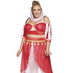 Dromen Van Een Harem Buikdanseres Plus Size Vrouw Kostuum