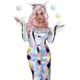 Kokette Clown Circus Oelala Vrouw Kostuum