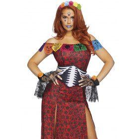 Dulcea Deluxe Day Of The Dead Mexico Vrouw Kostuum
