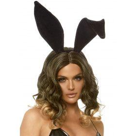 Zwarte Bunny Konijn Haarband Met Lange Oren