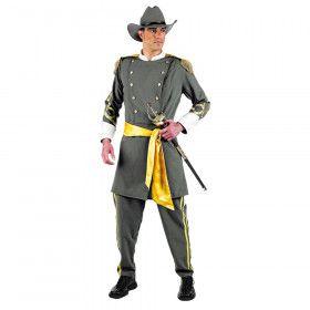 Amerikaanse Burgeroorlog Soldaat Confederatie Man Kostuum