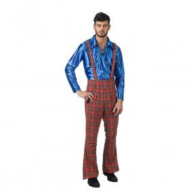 Schotse Circus Clown Adribas Man Kostuum