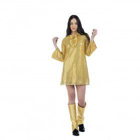 Gouden Plaat Poster Jaren 70 Vrouw Kostuum