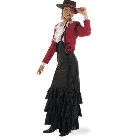 Trotse Spaanse Flamenco Muzikant Cordoba Vrouw Kostuum