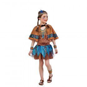 Blozende Buffel Indiaan Wilde Westen Meisje Kostuum