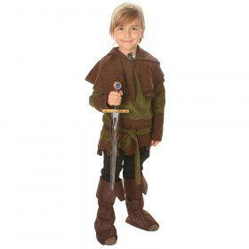 Middeleeuwse Boogschutter Robin Altijd Raak Hood Jongen Kostuum