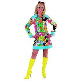Hyper Drukke Hippie Man Kostuum