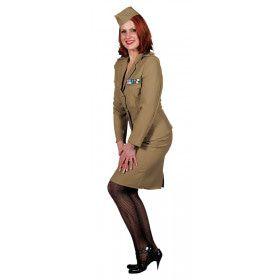 Andrew Sisters Uniform Leger Vrouw Kostuum