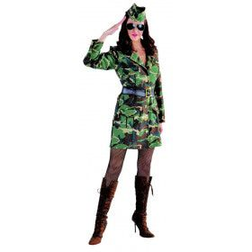 Jungle Commando Camouflage Leger Vrouw Kostuum