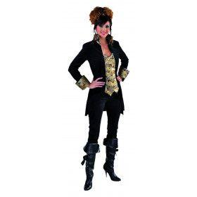 Mantel En Vest Gave Gravin Zwart Vrouw