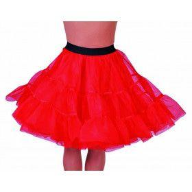 Jaren 50 High School Petticoat Rood Vrouw