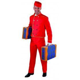 Koffersjouwer Bell Boy Hilton Hotel Man Kostuum