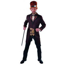 Victoriaans Steampunk Sam Man Kostuum