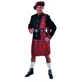 Schotse Klederdracht Tartan Scott Mcdonald Man Kostuum