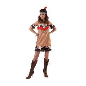 Indiaanse Squaw Wilde Wigwam Vrouw Kostuum
