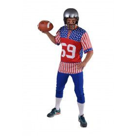 American Footballer Stars And Stripes Man Kostuum