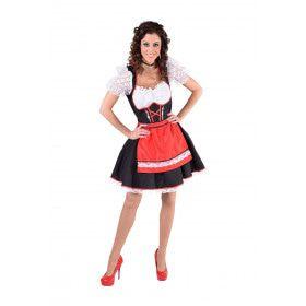 Rood Traditioneel Salzburg Tirol Vrouw Kostuum
