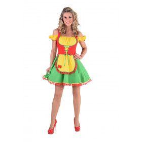 De Kleurigste Dirndl Van Het Bierfeest Vrouw Kostuum