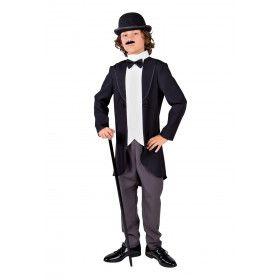 Jaren 20 Filmheld Charlie Jongen Kostuum