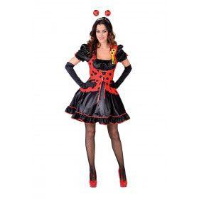 Lieveheersbeestje Rood Zwarte Kever Vrouw Kostuum