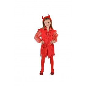 Duivelse Dame Hellevuur Halloween Meisje Kostuum