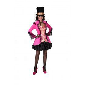 Vergulde Bourgeoisie Jas Roze Vrouw