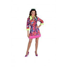 Funky Aquarel Jaren 70 Vrouw Kostuum