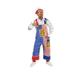 Tuinbroek Clown Donald USA Man Kostuum