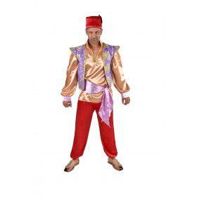Schatrijke Sultan Abu Harem Man Kostuum