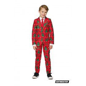 Klassieke Kleuren Kerstboom Jongen Kostuum