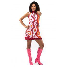 Jaren 70 Hippie Soul Disco 60s Hoge Sluiting Vrouw Kostuum