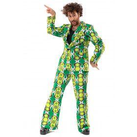 Jaren 70 Hippie Soul Disco 60s Ga Voor Groen Man Kostuum