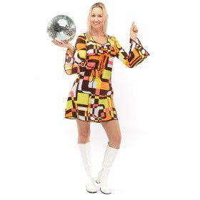 Jaren 70 Hippie Soul Disco 60s Dolle Lijnen Vrouw Kostuum