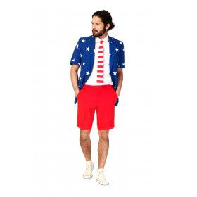 Summer Festival Extravagant Stars And Stripes Opposuit Kostuum Man