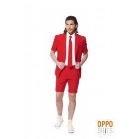 Summer Festival Intense Red Devil Opposuit Man Kostuum