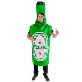 Groen Natte Droom Bierfles Kostuum Man