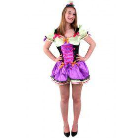 Bonte Mad Hatter Dame Vrouw Kostuum