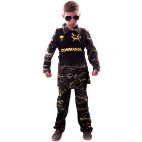 Speciale Operaties Commando Camouflage Jongen Kostuum